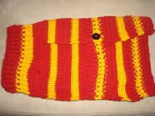 HAND CROCHET DOG SWEATER REDSKINS COLORS