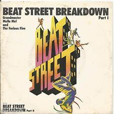 "GRANDMASTER MELLE MEL & THE FURIOUS FIVE - Beat street breakdown - VINYL 7"" 45"