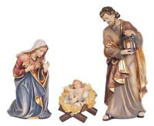 """3"""" Holy Family Woodcarvings - Kostner Nativity by PEMA, Beautifully Hand Painted"""