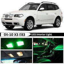 13 pcs Green Error Free Interior LED Light Package Kit Fit 2004-2010 BMW X3 E83