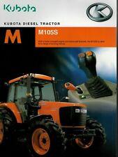 Kubota M M105S Diesel Tractor 2006 Brochure / Leaflet 4024F