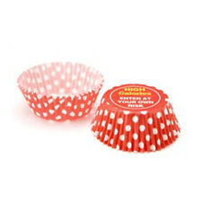 100x Eddingtons Small Mini Paper Fairy Cake Cupcake Muffin Cases Red White Dots