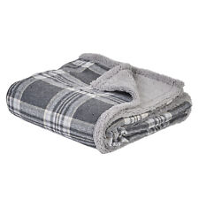 More details for me & my pets grey check dog/puppy blanket bed soft cosy warm throw 120 x 100cm