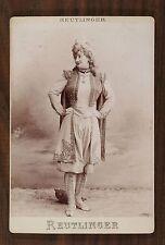 Marie Puebla Nixau, Théâtre Opéra Soprano, Photo Cabinet card, Reutinger