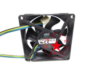 1PC COOLER MASTER A8025-30RB-4BP-F1 12V 0.30A 8CM 8025 4-wire cooling fan