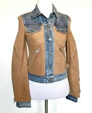 AllSaints Curtis Denim & Suede Leather Jacket NWT Retail $725 Price $335 Size 0