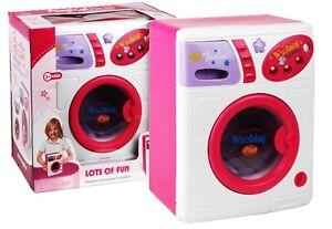 LAVATRICE GIOCATTOLO ROSA LAVA ASCIUGA con luci CM. 24 X 19 giocattolo bambina