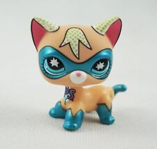 Littlest Pet Shop LPS 383 Shorthair Cat Blue Eyes Comic Con Mask Super Hero USA