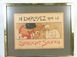 Vintage Original Emile Berchmans Lithograph Poster for Sunlight Savon Boudet