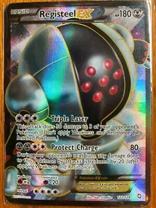 Pokemon Dragons Exalted Registeel-EX - 122/124 - Rare Ultra - Full art - LP/MP