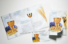 24 FIRST COMMUNION INVITATIONS CALIZ TRIGO INVITACIONES PRIMERA COMUNION UVAS