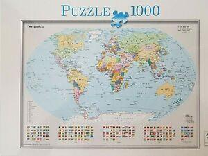 World Map 1000 Pcs Jigsaw Puzzle SEALED