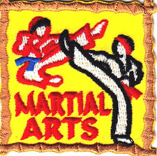 """MARTIAL ARTS"" PATCH - SELF DEFENSE - SPORT/Iron On Embroidered Applique Patch,"