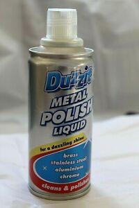 3 X METAL POLISH LIQUID CLEANER duzzit- Silver Brass Steel Aluminium Chrome