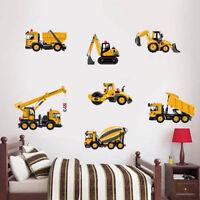 Truck Digger Construction Vehicles Wall Sticker Kids Nursery Bedroom Decor Decal