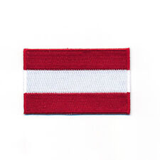 40 x 25 mm Österreich Flagge Austria Flag Wien Graz Aufnäher Aufbügler 0914 A