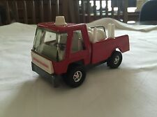 Topper Zoomer Boomer Pressed Steel Toy Fire Truck Rubber Wheels Nice!