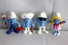 Smurfs Peyo 2011 & 2013 toy lot Handy Smurfette Baker Smooth