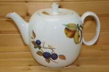 """Royal Worcester Evesham Gold Teapot, 5"""", with Lid, 4-Cups  (Box #8)"""