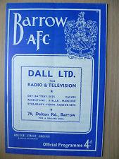 More details for 1962 football programme barrow afc v workington, 20th october 1962