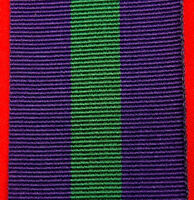 1918-62 BRITISH GENERAL SERVICE  MEDAL RIBBON MEDAL REPLACEMENT MOUNTING
