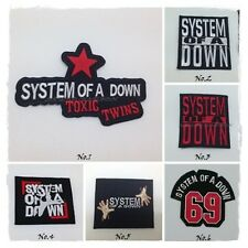 New System of a Down Sew Iron On Patch Embroidered Rock Band Music Heavy Metal