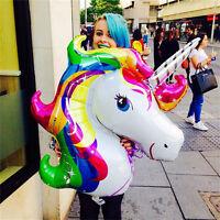 2X.Gro? Regenbogen Einhorn Pferd Ballon Folie Kinder Geburtstag Party Dekoration