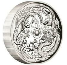 Australien - 1 Dollar 2017 - Drache & Phönix - High Relief - 1 Oz Silber PP