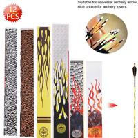 12pcs/pack Universal Arrow Wraps Sticker for Archery Shaft DIY Tool Decoration