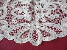 Vtg Antique Flanders Wide Handmade Lace Trim 19th Century Beautiful!