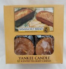 Yankee Candle BANANA NUT BREAD Box of 12 Scented Tealights Tea Light Food Melt