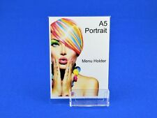 A5 Portrait Angled Menu / Poster Single Sided + Business Card Holder PDS8003BCH