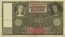 Niederlande / Netherlands 100 Gulden 1942 Pick 051c (3)