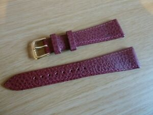1x Vintage Genuine Grain Leather Watch Strap - New Old Stock - 20mm Lug - BROWN