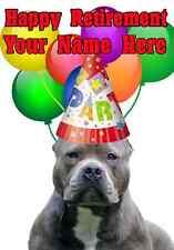 American Pit Bull Terrier Feliz Jubilación tarjeta codeapb Personalised saludos