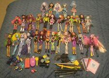 Monster High Lot of 30 Dolls + Accessories GUC Clawdeen Skelita Cleo Frankie etc