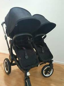 Bugaboo Donkey Duo all black with basinette