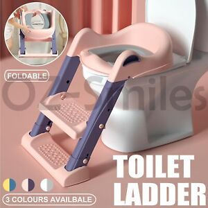 Potty Training Toilet With Soft Seat and Step Stool Ladder For Toddlers & Kids