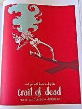 And You Will Know Us by the Trail of Dead Mini Poster Reprint -NC 2009 14x10