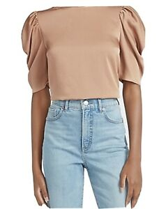 Express Puff Sleeve Crew Neck Top - Size S