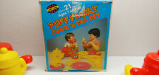 Puff Family Cook-n-Tea Set childrens 21-piece Plastic vgt 1980 Pretend Play