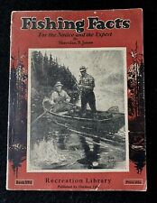 1935 Fishing Facts Sheridan R Jones Book Outdoor Life Recreational Library No 1