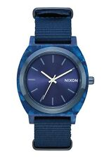 **BRAND NEW** NIXON WATCH THE TIME TELLER ACETATE ALL BLUE A3272490 NEW IN BOX!