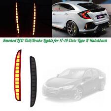 LED Stop Turn Tail Brake Lights For 2017 2018 2019 2020 Honda Civic Hatchback