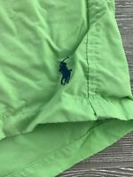 Polo Ralph Lauren Mens  Solid Swim Trunk Logo Surf Board Shorts Lined SZ Medium