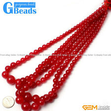 """6-14mm Colorful Graduated Jade Semi Necklace Beads For Jewelry Making Strand 15"""""""