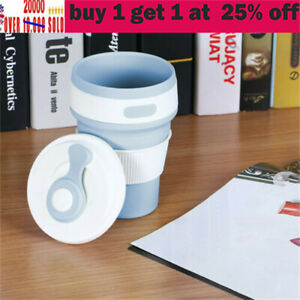 Collapsible Silicone Coffee Cup Reusable Folding Mug Travel Leak Proof Bottle jh