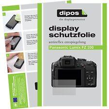 6x dipos Panasonic Lumix DMC FZ200 Schutzfolie Displayschutzfolie Antireflex