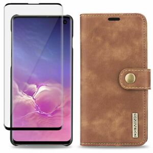 Phone Leather Wallet Case with Detachable Slim Case for Samsung Galaxy S10 S10+