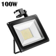 100W LED PIR Motion Sensor Flood Light Outdoor Garden Spot Lamp Warm White